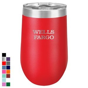 Polar Camel 16 oz. Red Vacuum Insulated Stemless Tumbler w/ Lid