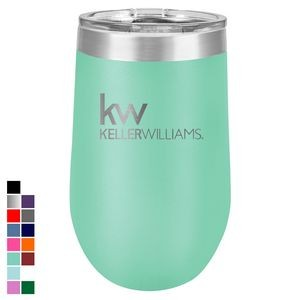 Polar Camel 16 oz. Teal Vacuum Insulated Stemless Tumbler w/ Lid
