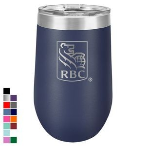 Polar Camel 16 oz. Navy Blue Vacuum Insulated Stemless Tumbler w/ Lid