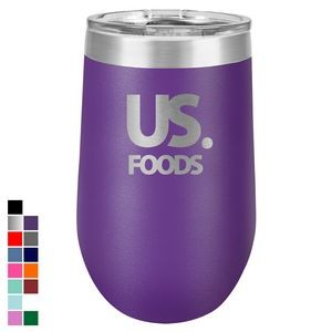 Polar Camel 16 oz. Purple Vacuum Insulated Stemless Tumbler w/ Lid