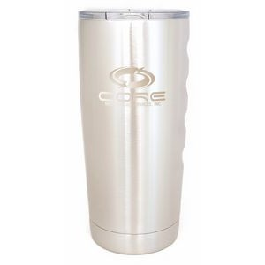 Boss Big Grip 20 oz. Tumbler with Finger Grips - Double Wall Vacuum Insulated Stainless Steel