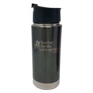 Scout Gun Metal 16oz Vacuum Insulated Double Wall Stainless Steel Bottle